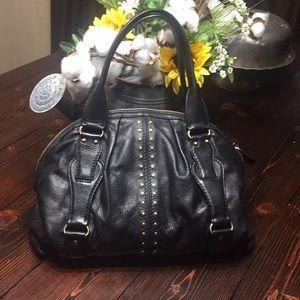 Michael Kors black with gold stud purse